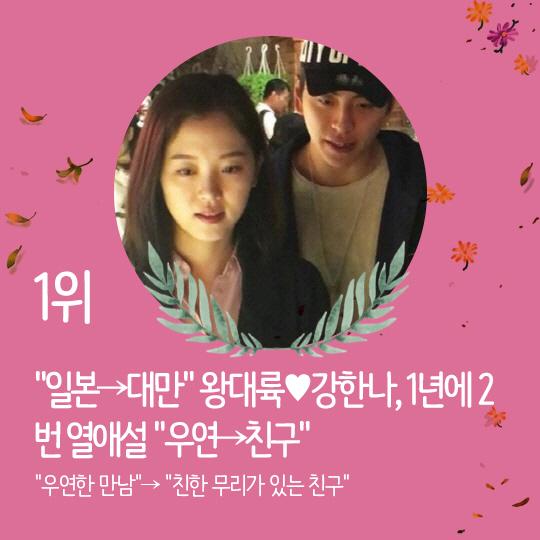 지난주 핫이슈, 왕대륙♥강한나, 1년에 2번 열애설