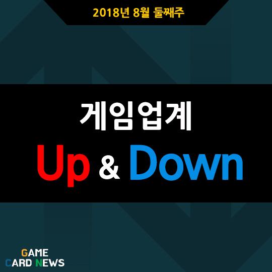 [카드뉴스] 8월 둘째주 게임업계 UP&DOWN