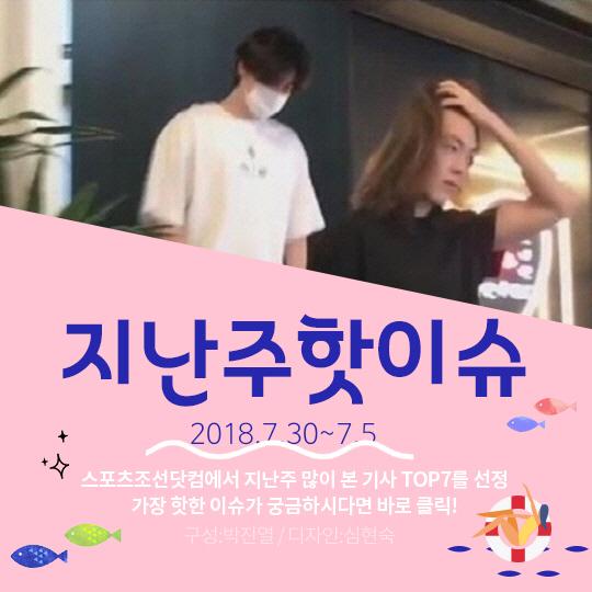 [카드뉴스] 지난주 핫이슈, '비인두암' 김우빈 근황 포착