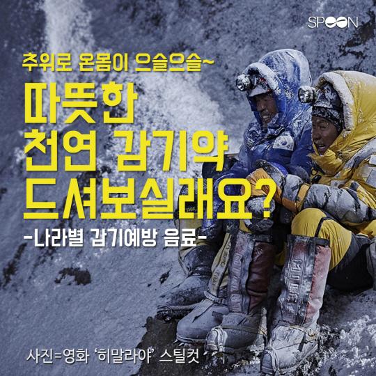 [카드뉴스] 추위로 온몸이 으슬으슬…나라별 '천연 감기약'은?