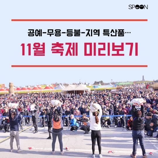 [카드뉴스] 공예-무용-지역 특산품…11월 축제 미리보기